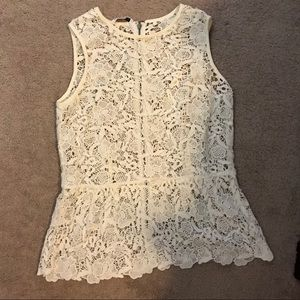 Cabi Lace Tank -Size Medium